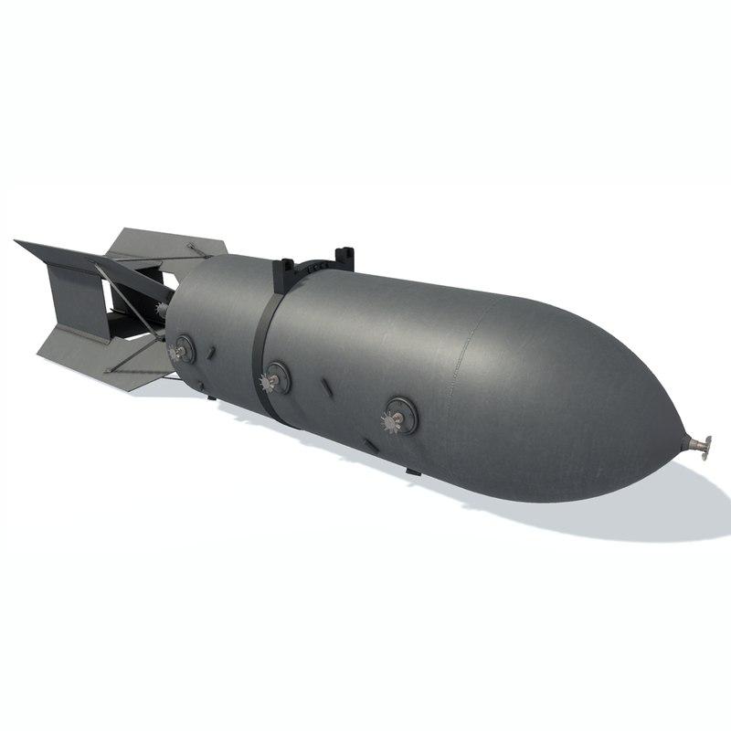 3D model air bomb
