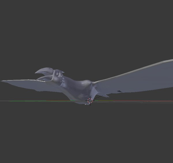 bird rigged 3D model