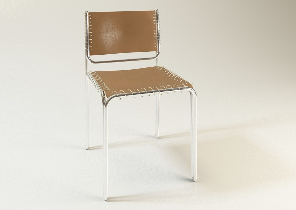 3D design chair steel model