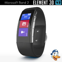 3D microsoft band 2 element