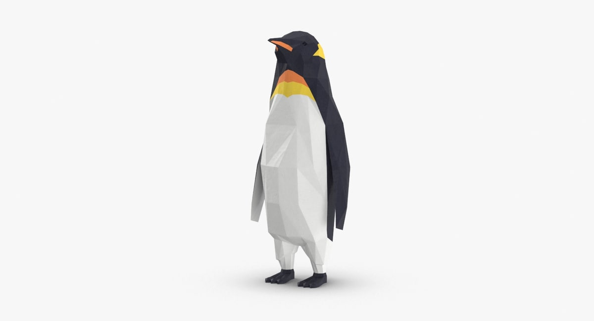 3D penguin----standing