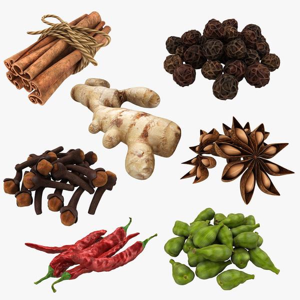 3D spices set model