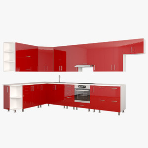 kitchen mdf 3D model