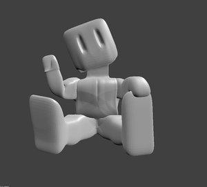 3D bloc rigged