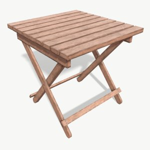 beach table 3D model