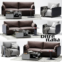 3D ditre italia bag sofa armchair model