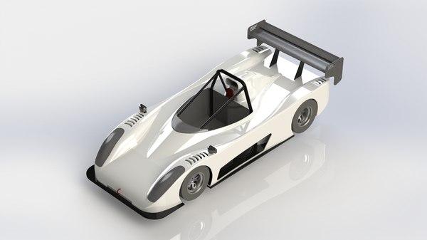 pr6 race car 3D model