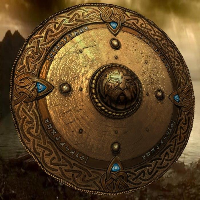 greek shield 3D model