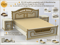 cad bed table 3D model
