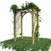 3D pergola ivy model