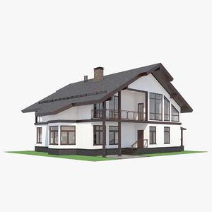 contemporary house interior 3D