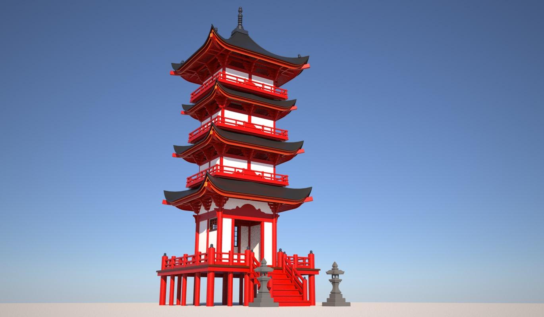 japanese temple model