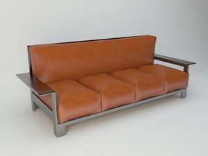 3D sofa pillows model
