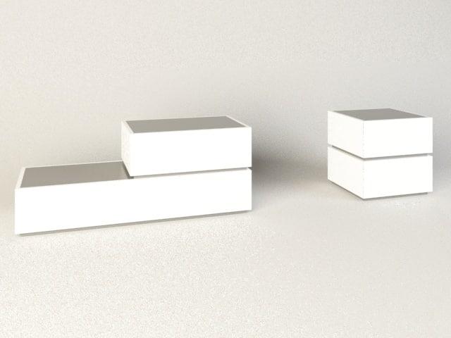 3D bedside tables