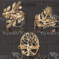 3D rings pack 10