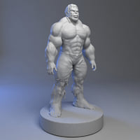 3D model hulk print