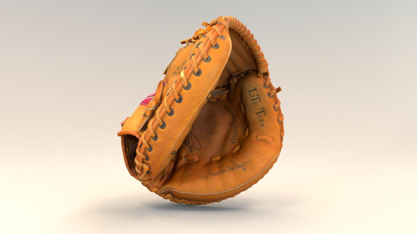 catcher s glove 3D model