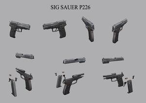 3D sig sauer p226 pistol
