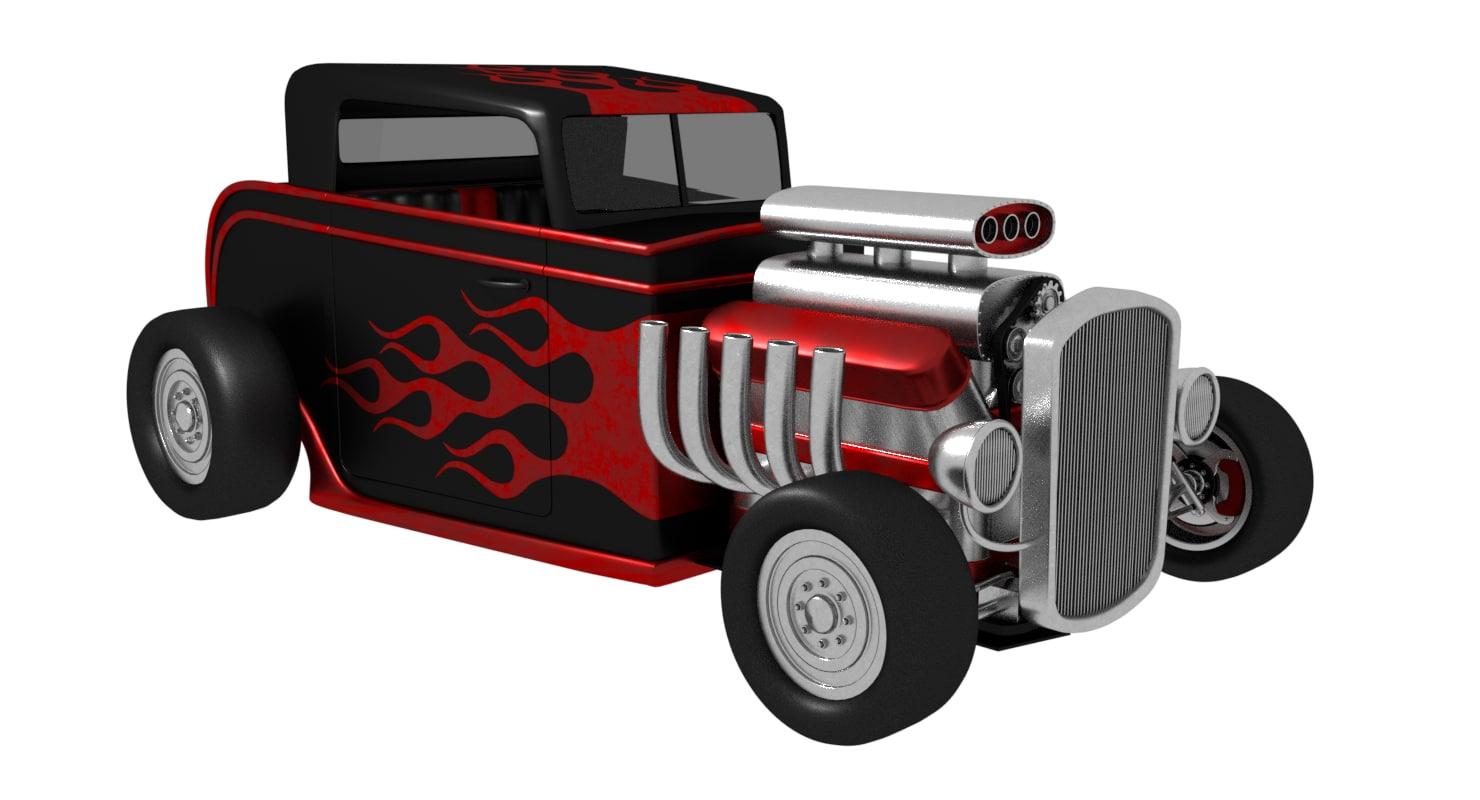 Hot rod 3D model - TurboSquid 1186292