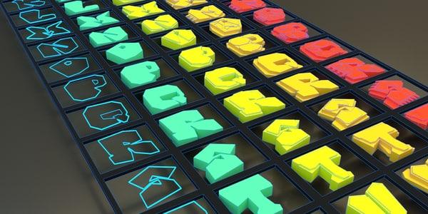 3D alphabet letter