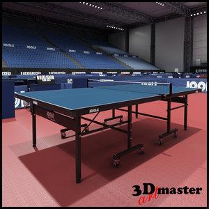 table tennis arena model