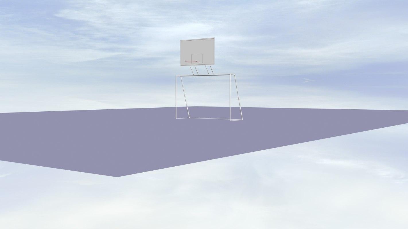 3D basketball indoor football model