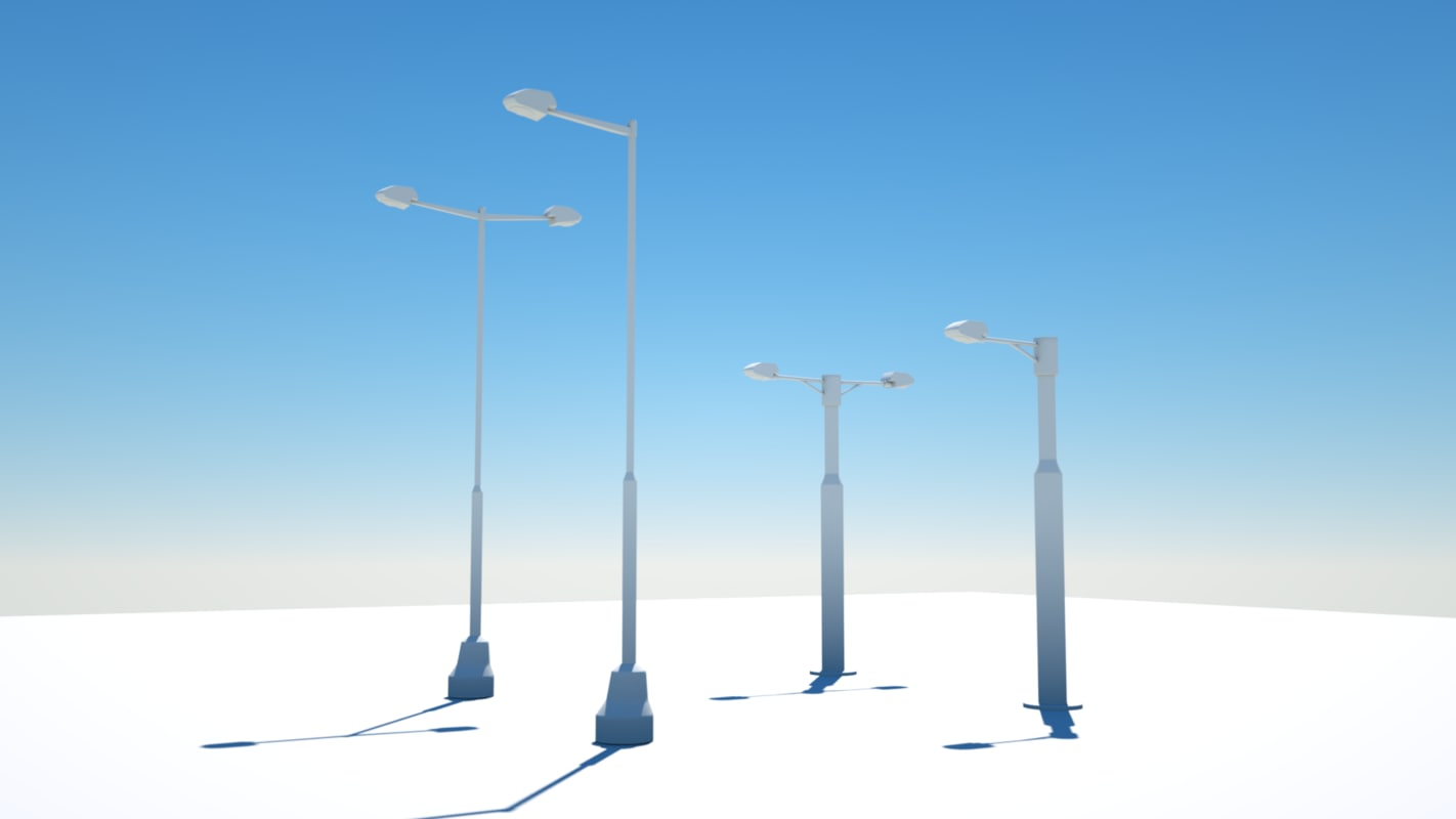 3D lighting roadlighting model