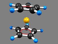 ferrocene 3D model