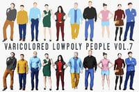Varicolored Lowpoly People Vol.7