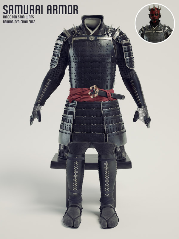 samurai armor - reimagined model