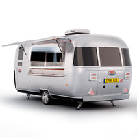 3D model airstream truck food
