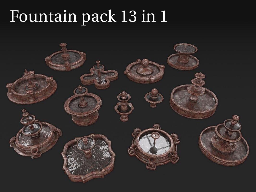 fountains 13 1 3D