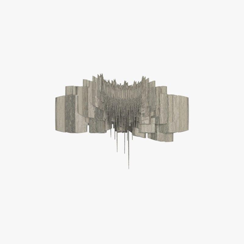 3D dried waterfall wall art