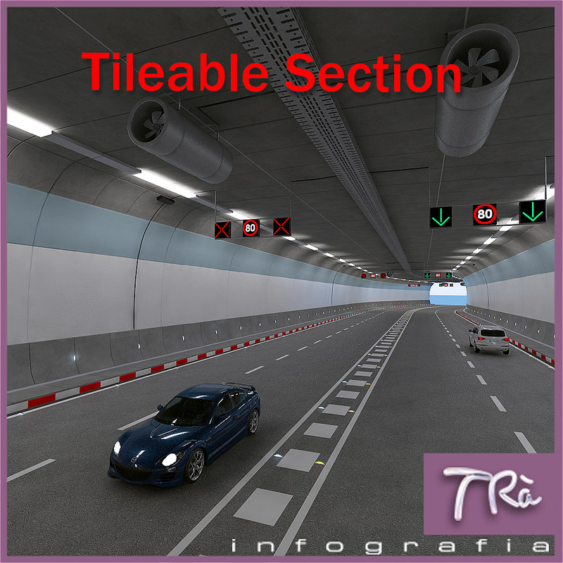 tunnel section 3D model