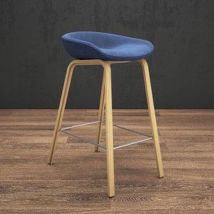 3D stool hay model