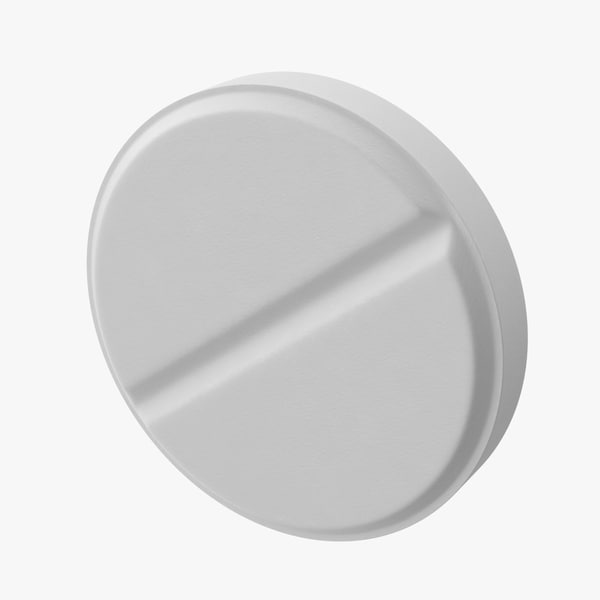white medicine 3D model