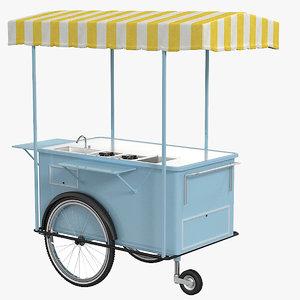 3D street food cart model