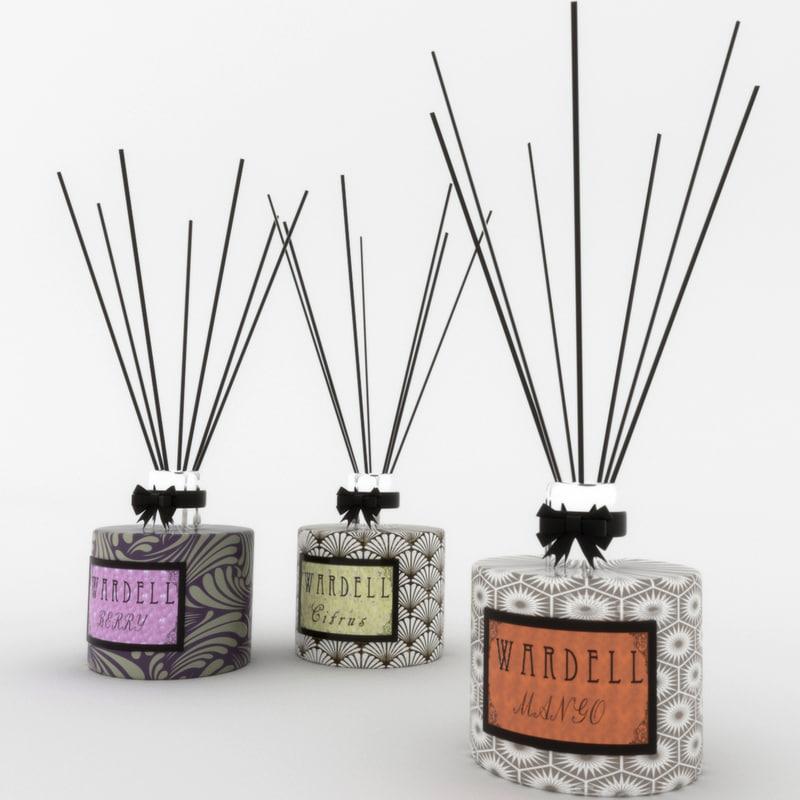 fragrance diffusers x 3 3D model