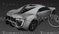3D lykan hypersport model