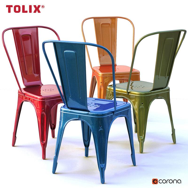 metal chairs tolix model