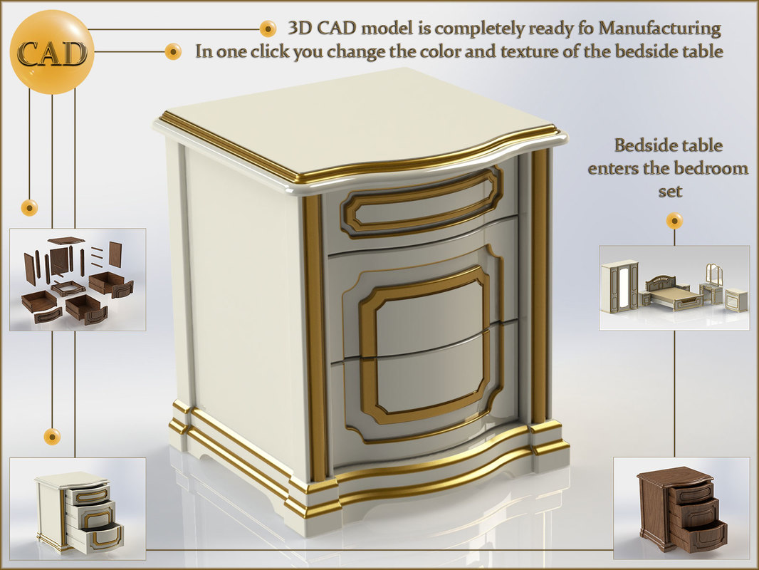 bedside table 3D