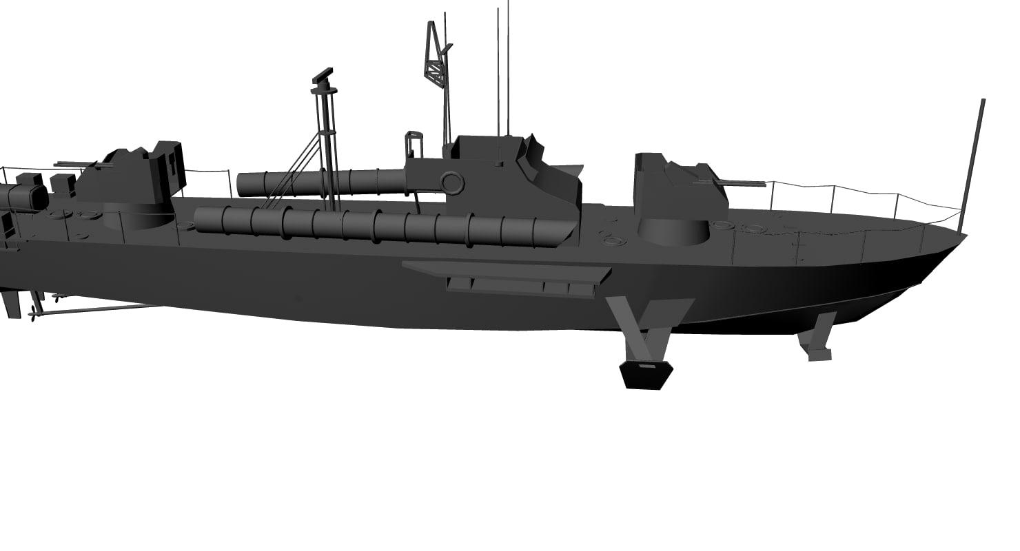 3D china boat model