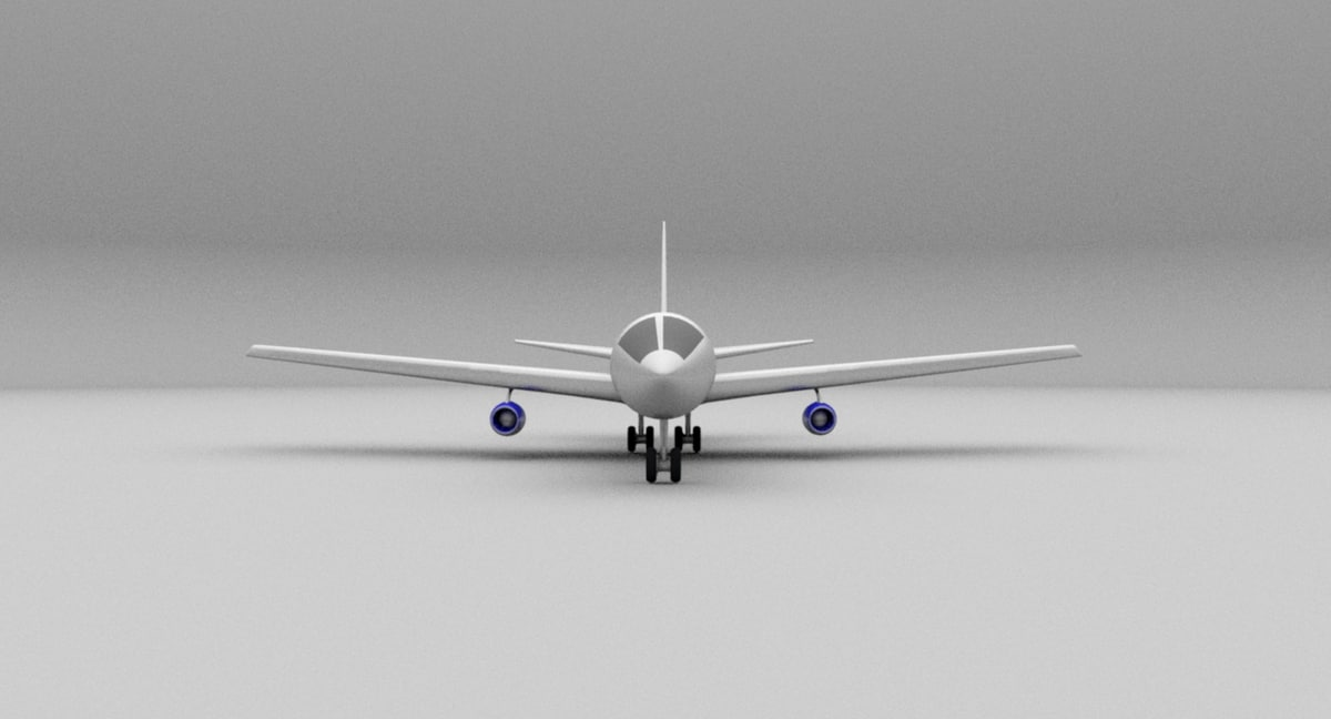 3D aeroplane plane