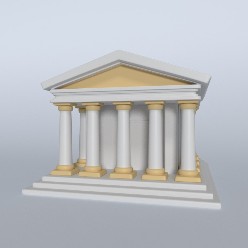 3D model temple greek