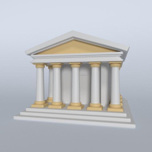 3D model temple greek