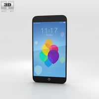 3D model meizu mx3 black