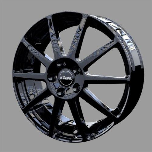 automobile alloy wheel - 3D model