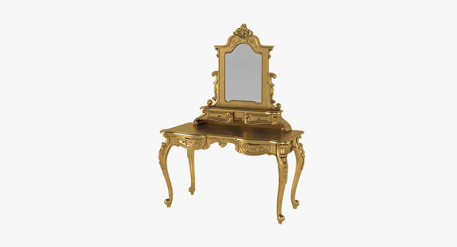 anais dressing table mirror 3D