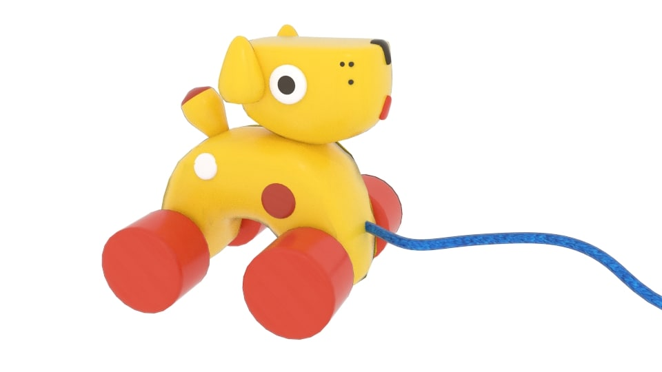 oiiotoys dog pull toy 3D model
