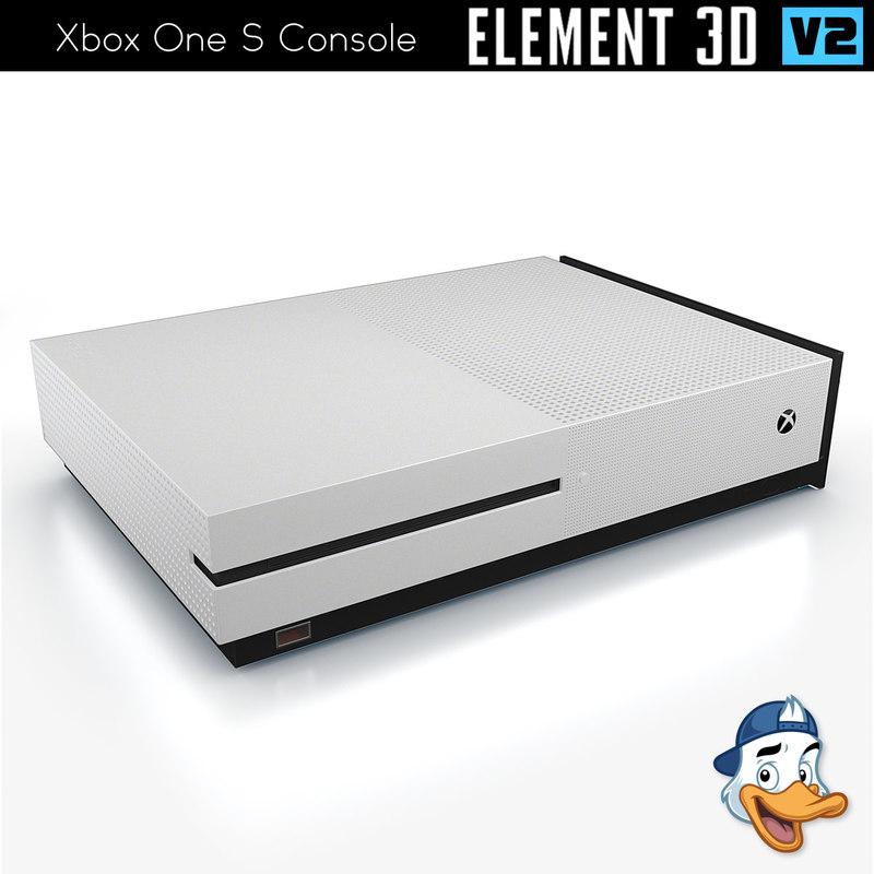 xbox s console element 3D model